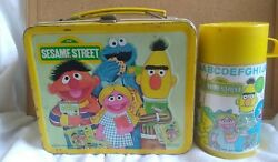 Sesame Street Metal Lunch Box 1979 Muppets W/thermos Vintage