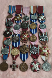 Huge Set Of Polish Old And Rare Military Medals- 26 Medals Bargain