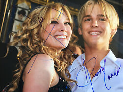 Lizzie Mcguire Signed 11x14 Photo Aaron Carter Autographed Scribbled Hilary Duff