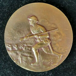 1917-1918 World War I American Doughboy Fighting In France - French Battle Medal