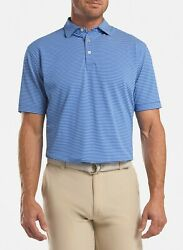 Nwtpeter Millar Crown Sport Polomen's Small Blue Stripes, Cool Msrp 94