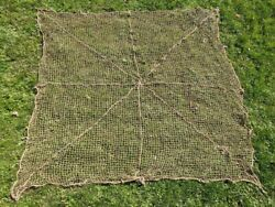 Original Wwii German Camo Net W/ Repair And Hole 12'x12' Camouflage Wehrmacht 40s