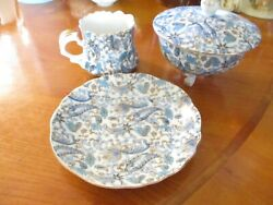 Lefton Three Footed Candy Dish With Lid And Cup And Saucer Photo