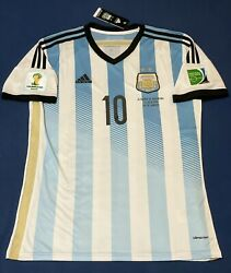 Argentina Messi Soccer Jersey Fifa World Cup Brasil 2014 Size L Barcelona Mexico