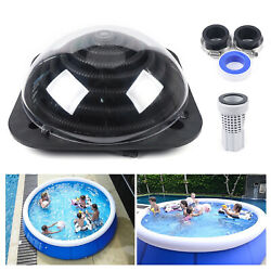 Pool Central 38.6 Solar Dome Above Ground Swimming Pool Water Heater Black Sale