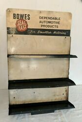Vtg Bowes Seal Fast Dependable Automotive Products Store Rack Sign Display