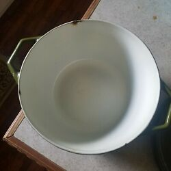 Vintage Copco Denmark D2 Green Cast Iron Dutch Oven And Lid Mid Century Cookware