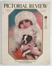 Pictorial Review Magazine 1926 Early Christy Boston Terrier Dog Paper Dolls