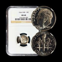 United States. 10 Cents 1966 Fdr - Ngc Ms68 - Sms Roosevelt Dime C.2541944008