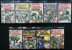 Sgt. Fury And His Howling Commandoes. 9 Issues And039s 18 2922232632333536