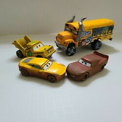 Lot Of 4 Cars 3 Thunder Hollow Crazy 8 143 Die-cast Vehicles Miss Fritter Taco