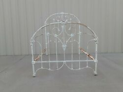 Antique Cast Iron White Paint Full Size Bed