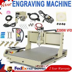 Usb 4 Axis Cnc 6090 Router Engraver Milling /cutting Machine 2.2kw+controller Rc