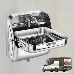 Folding Sink+cold Water Faucet For Caravan Boat Rv Space Saving Kitchen Bathroom