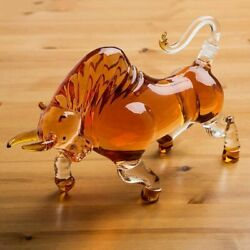 Whiskey Decanter Crystal Glass Bottle Cow Home Display Liquor Scotch Bourbon Rum