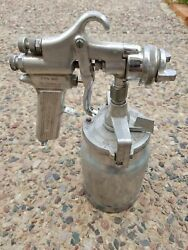 Devilbiss Type-mbc Paint Spray Gun, 80 Air Nozzle Head And Metal Cup Canister