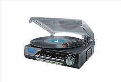 3-speed Turntable W/sd Usb, Mp3 Encoding System And Am/fm And Built-in Speakers