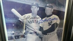 Mickey Mantle And Ted Williams Dual Signed Photofrom Ted Williams Estate/coa