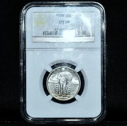 1918-p Standing Liberty Quarter ✪ Ngc Au-58 ✪ 25c Almost Uncirculated ◢trusted◣