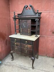 1860s New Hampshire Style Highboy Medical Cabinet Bathroom Dental Country