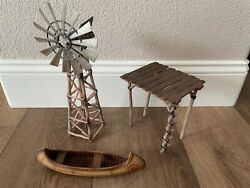 Schleich Water Pump Station And Windmill 42005 Incomplete Retired