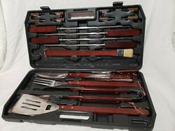 Bbq Set Stainless Steel Grill Tools Barbecue Grilling Accessories Case 22 Piece