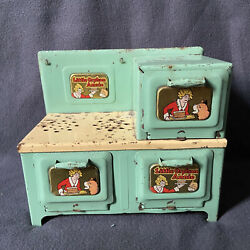Vintage Little Orphan Annie Marx Toy Doll Sized Stove Ready For Restore Display