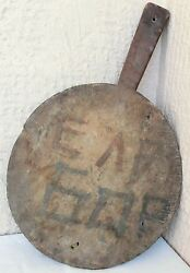 26 Signed Antique Primitive Bakery Dough Bread Wooden Board Pizza Peel Paddle