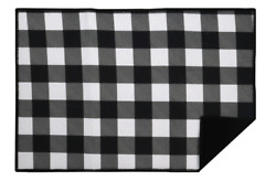 """Home Collection Self Absorbent Polyester Dish Drying Mat 12""""x18"""" Buffalo Check"""