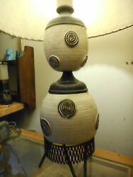 Vintage 1950's Picasso Style Table Lamp Very Rare Help Me
