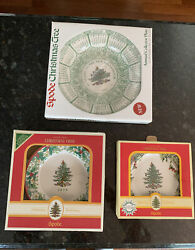 Spode Christmas Tree Plates Lot Of 3, Dated 2001, 2006, 2008 Collector's