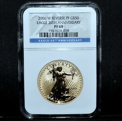 2006-w 50 Gold American Eagle ✪ Ngc Pf-69 ✪ 1 Oz Reverse Proof Rev ◢trusted◣