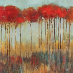 30wx30h Amongst Friends By Allison Pearce - Elongated Trees Choices Of Canvas