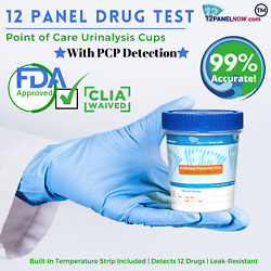 [500 Pack Special] 12 Panel Multi-drug Test Cup With Pcp   Clia And Fda Approved