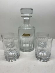 Baccarat Crystal Glass Rotary Whisky Decanter And Glass Set