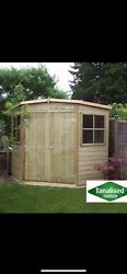 Workshop Corner Shed Summerhouse Play House Tool Store Wooden Garden Gym Cabin