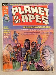 Rare Planet Of The Apes Magazine 1 August 1974 Fn/vf Or Better Condition