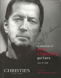 Eric Clapton Real Hand Signed A Selection Of Guitars Auction Book Jsa Loa Cream