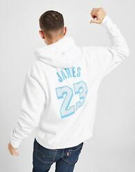 Nike Lakers City Edition Lebron James Pullover Hoodie White Platinum Size 2xl
