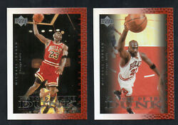 1999-2000 Upper Deck Michael Jordan History Of The Dunk Card 67 And 69 2 Cards
