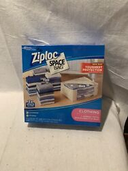 Ziploc Space Bag 1 Jumbo Tote 4 Large Flat Storage Compression Bags Reusable New
