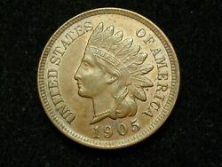 2021 Sale Au 1905 Indian Head Cent Penny W/ Diamonds And Full Liberty 136