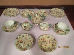 Tea For Two, Vintage Chintz By Empire Ware, Exotic Birds, 13 Pieces, Vgc