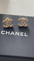 Nwt Stud Earrings Gold And Crystal Costume Jewelry