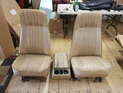 73 79 Chevy K5 Blazer Gmc Jimmy Bucket Seats With Center Console Tan Used