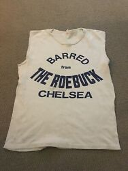 Extremely Rare Original 1970s Barred From The Roebuck Chelsea Punk T-shirt