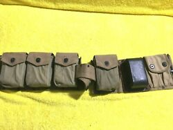 Ww1 Us Army P.b.and Co Riflemans 3386 Left 3387 Right Ammo Cartridge Belt/mags1918