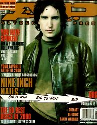 Nine Inch Nails Trent Reznor A.p. Magazine Feb 2001 Twizted Outkast Very Cool