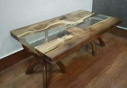 Epoxy Resin Dining Table Top Live Edge Acacia Wood River Table Dine Furniture A3