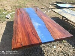 Epoxy Table Live Edge River Table Resin Epoxy Table Wooden Dining Furniture B002